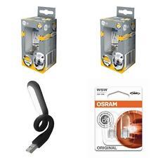 H7 megalight ultra 120% más de luz ge 2st + w5w OSRAM + USB luz