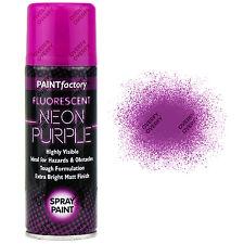 1 x Fluorescent Neon Purple Spray Paint Matt 200ml Auto Car Creative Paint