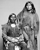 LONE WOLF & WIFE ETLA 1914 BY EDWARD S. CURTIS KIOWA INDIANS  8X10 PHOTO (RT766)