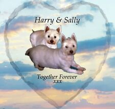 Pet Photo Memorial SLATE - HEART - Plaque - Personalised YOUR Picture