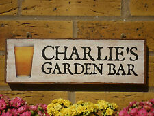 PERSONALISED GARDEN BAR SIGN FUN SIGN FUNNY SIGN DRINKING SIGN GARDEN SIGN LAGER