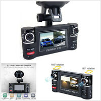 "2.7"" TFT LCD Dual Camera Rotated Lens Car HD DVR Vehicle Video Recorder Dash Cam"