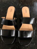 Urban Outfitters Women's Faux Leather Wedge Heel Platform Sandal Size 9, New!