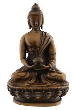 Statue tibetaine Dhyani Bouddha Amitabha en resine Beige 11cm- 3140 Bte 4