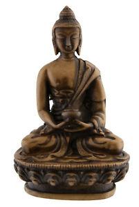-statue Tibetischer Dhyani Buddha Amitabha Aus Harz Beige 11cm- 3140 Hdo 4