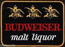 Vintage uniform patch BUDWEISER MALT LIQUOR beer large new old stock n-mint+