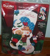Bucilla Teddy Bear & Snowman Felt Stocking Kit # 84774 (New/Sealed)  Christmas