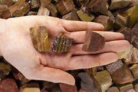 18 Pounds of Natural Brown Stripe Jasper Rough Stones - Tumble Rocks, Reiki