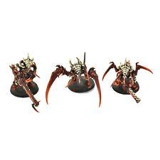 TYRANIDS 3 tyranid warriors #1 WELL PAINTED Warhammer 40K