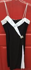 Betsy & Adam Black & White Formal Evening Dress Size 11/12 Never Worn Paid $150