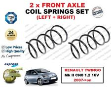 FOR RENAULT TWINGO Mk II CN0 1.2 16V 2007->on NEW 2 X FRONT COIL SPRINGS SET