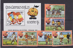 laos 1982 world cup,set MNH Sc 379/85      l1358