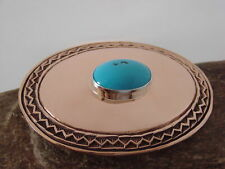 Native American Jewelry Hand Stamped Copper Belt Buckle by Anderson Parkett !