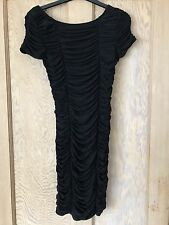 WAREHOUSE BLACK RUFFLE DRESS, SIZE 10,  BNWT