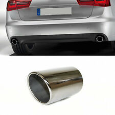 Exhaust Tip Trim Pipe Tail Muffler Sport Stainless Steel For Audi A6 4F C6