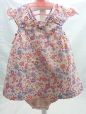 Cocoon robe body rose à fleurs 6 mois