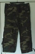 US Military Army USAF Woodland Camo BDU Cold Weather Goretex Trousers LGE/SHORT