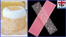 Flor Encaje Silicona Molde Fondant Glaseado Pastel De Bodas Decoración Molde Estera de azúcar