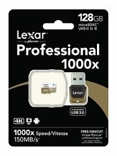 Lexar Professional 1000x microsdxc UHS-II 128gb u3 incl. USB 3.0 dispositivo de lectura