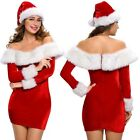 Miss Mrs Santa Claus Christmas Xmas Party Costume Fancy Dress Sexy Outfit S M L