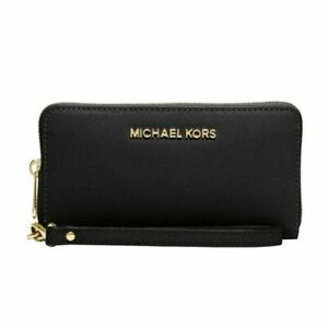 MICHAEL KORS LARGE SMARTPHONE WRISTLET AUTHENTIC BLACK NEW