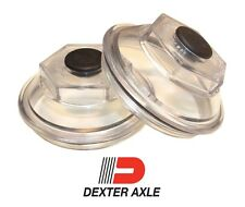 "PAIR 2-7/8"" Oil Bath Cap 21-35 Trailer Axle Dexter 7K 8K 9K 8-286 8-285 8-219"