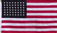 HEAVY COTTON 48 STAR AMERICAN FLAG - 3 X 5 OLD GLORY SEWN AND EMBROIDERED USA