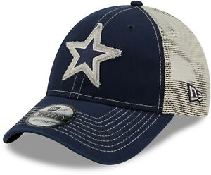 Dallas Cowboys Hat New Era 9Forty NFL Trucker Star Snapback Cap Blue White Mesh