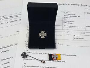 Set Bundeswehr Veteranenabzeichen im Etui Bandspange und Nadel + Antrag
