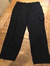 Mens Propper Trousers Size L L31 Black Cargo Workwear Trousers