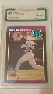 GARY SHEFFIELD 1989 Donruss Rated Rookie AGS Gem Mint 10.0!!!