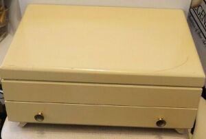 Vintage Mid Century Modern Community Oneida Blonde Silverware Chest Box 1 Drawer