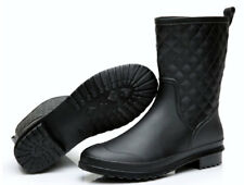 Womens PVC Waterproof Rain Shoes Anti Slip Rain Ankle Boots Middle Galoshes Size