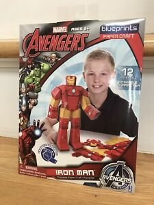 Marvel Avengers Blueprints Paper Craft Iron Man Age 6+