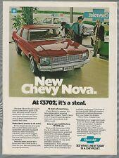 1978 CHEVROLET NOVA advertisement, Chevy Nova coupe, police at car dealers