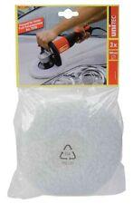 Polierhauben Set Polierteller 180 mm Polierscheibe Webfell Polierschwamm Wolle