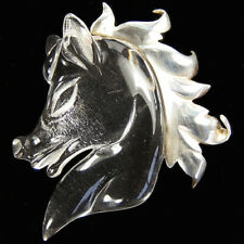Jelly Belly Horse Head with Sterling Golden Mane Pin