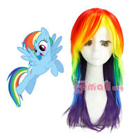 My Little Pony Rainbow Dash Friendship Is Magic Long Cosplay Wig Halloween Wigs
