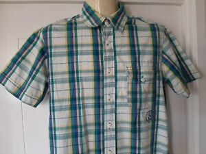 Mens Bench Clothing Co. Casual Shirt, Short Sleeves, M, Cotton