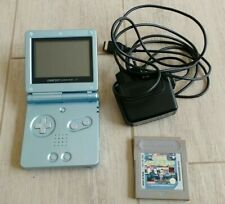 Nintendo Gameboy advance sp ags 001 Surf Blue + Game