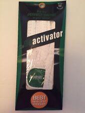 """NIP  The Deactivater """"Perfect Swing"""" Golf Glove White Men's Med Reg Right  NEW"""