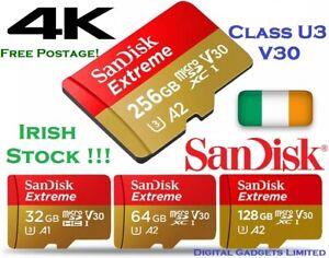 SanDisk Extreme Micro SD microSD Card Mini 32 64 128 256 gb High Speed U3 V30