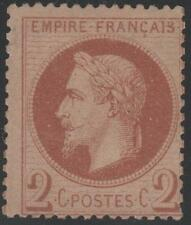"""FRANCE STAMP TIMBRE N° 26 """" NAPOLEON III 2c ROUGE BRUN 1862 """" NEUF xx TB SIGNE"""