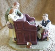 "Norman Rockwell Figurine ""The Marriage License"" copyright 1976 Gorham Fine China"