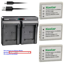 Kastar Battery Dual Charger for Olympus Li-80B & OLYMPUS T-100 T-110 X-36 X-960