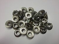 M4 SERRATED NUTS A2 STAINLESS STEEL QTY 20