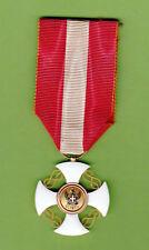 Croce Cavaliere ordine della corona d'Italia modello Chobillon nastro ORIGINALE
