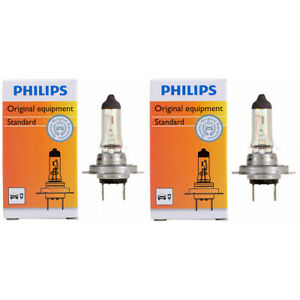 2 pc Philips Low Beam Headlight Bulbs for Kia Amanti Cadenza Forte Forte it