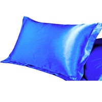 King Queen Standard Silk Satin Pillow Case Cover Bedding Pillowcase Christmas