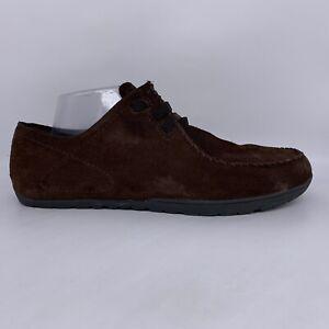 Patagonia Alvah Espresso Brown Suede Casual Moc Walking Shoes Men 10.5 M